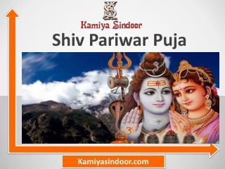 Shiv Pariwar Puja & Shiv Pariwaar Puja at Maha Shivaratri