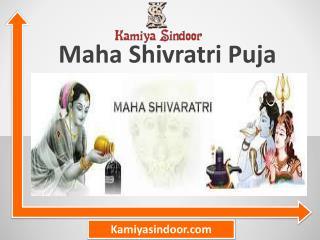 Maha Shivratri Puja & Maha Shivaratri Puja of Lord Shiva