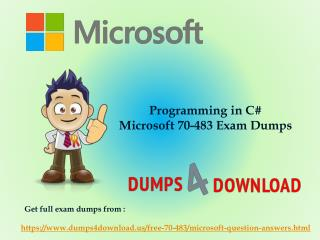 Microsoft 70-483 Exam Sample Questions - Slide