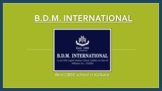 Best CBSE School in Kolkata-BDM International