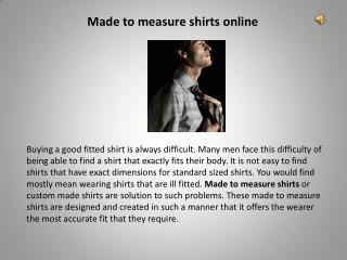 Mens shirt online