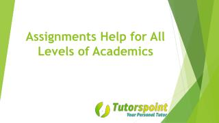 Assignments Help for All Levels of Academics