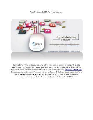 Web Design and SEO Services at Arneacs