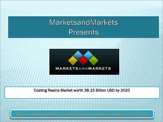 Coating Resins Market worth 38.15 Billion USD by 2020