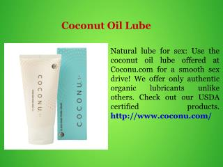 Coconut Oil Lube