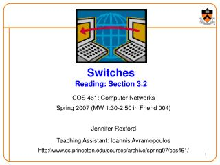 Switches Reading: Section 3.2