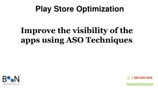 Go Through Our Effective Play Store Optimization Services