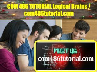 COM486TUTORIAL Logical Brains / com486tutorial.com
