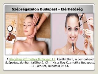 Szépségszalon Budapest - Elérhetőség - Kiscsillag Kozmetika