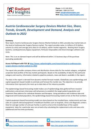 Austria Cardiovascular Surgery Devices Market Growth, Trends, Analysis and Outlook to 2022