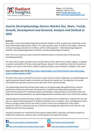 Austria Electrophysiology Devices Market Share, Analysis and Outlook to 2022