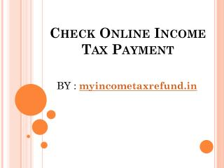Check Online Income Tax Payment
