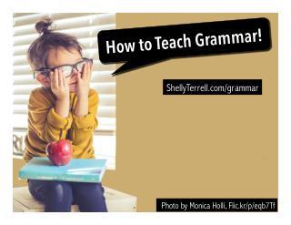 Groovy Grammar! Interesting ways to learn grammar!