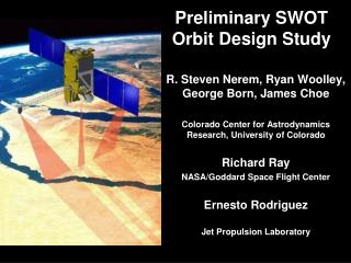 Preliminary SWOT  Orbit Design Study