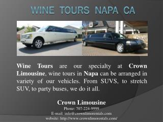 wine tours napa