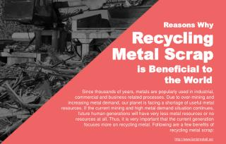 What Are The Main Benefits Of Recycling Metal Scrap?