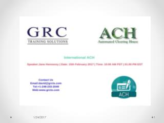 International ACH
