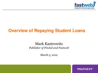 Overview of Repaying Student Loans