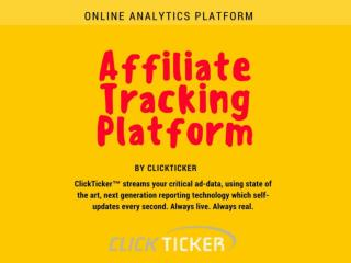 Clickticker - Online Analytics Platform - Affiliate Tracking Platform