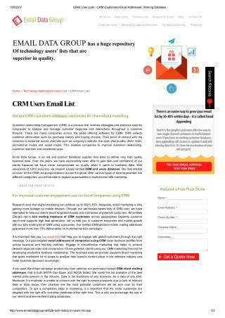 CRM users mailing list
