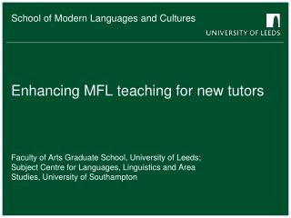 Enhancing MFL teaching for new tutors