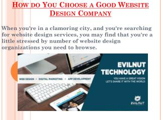 Choose a Good Website Design Company
