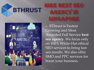 Hire best seo agency in singapore