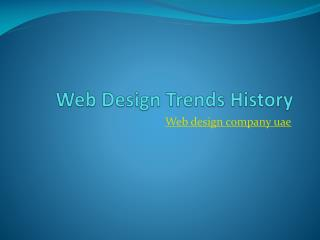 Web Design Trends History
