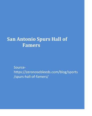San Antonio Spurs Hall of Famers