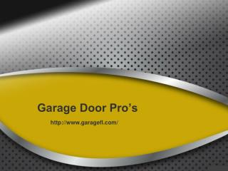 Cooper City Garage Door Repair - Garage Door Pro's