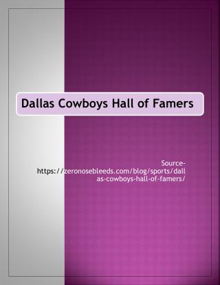 Dallas Cowboys Hall of Famers