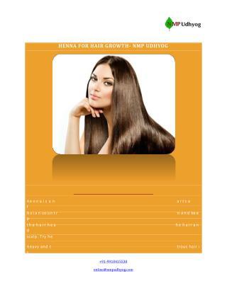 HENNA FOR HAIR GROWTH- NMP UDHYOG
