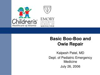 Basic Boo-Boo and Owie Repair