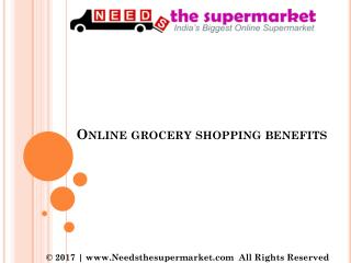 Online Grocery Shopping Benefits