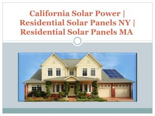 California solar power service