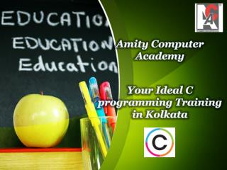 Your Ideal C programming Training in Kolkata