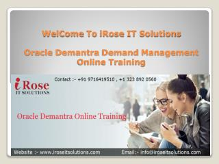 Oracle Demantra Online Training