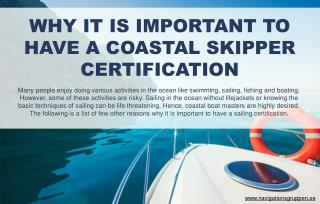 Reasons why coastal skipper certification is beneficial