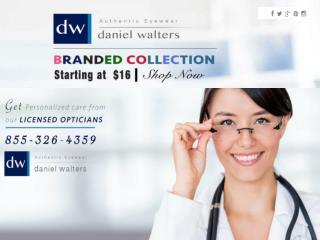 Buy Discount Designer Eyeglasses Online | Daniel Walters