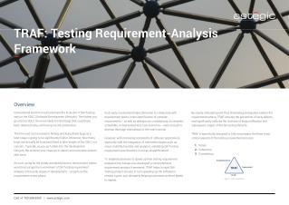 TRAF: Testing Requirement-Analysis Framework