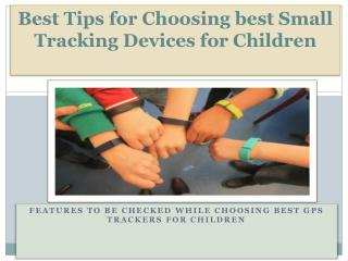 Small Tracking Devices for Children
