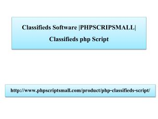 Classifieds Software |PHPSCRIPSMALL| Classifieds php Script