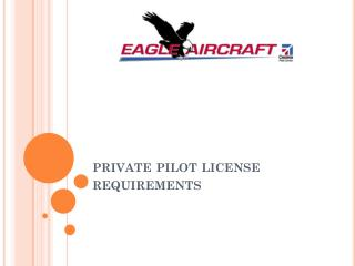 private pilot license requirements