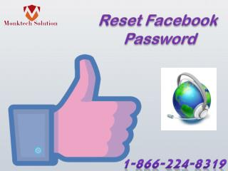 Reset Facebook Password 1-866-224-8319 from Anywhere