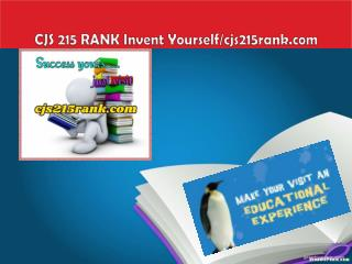 CJS 215 RANK Invent Yourself/cjs215rank.com