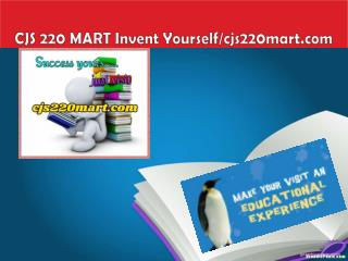 CJS 220 MART Invent Yourself/cjs220mart.com