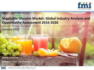 Vegetable Glycerin Market Value Share, Supply Demand, share and Value Chain 2016-2026