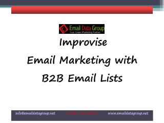 B2B Mailing List from Email Data Group
