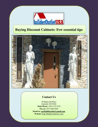 Buying Discount Cabinets: Few essential tips