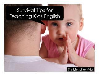 Tips for Teaching Children English
